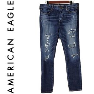 American Eagle Distressed Skinny Jeans Size 14